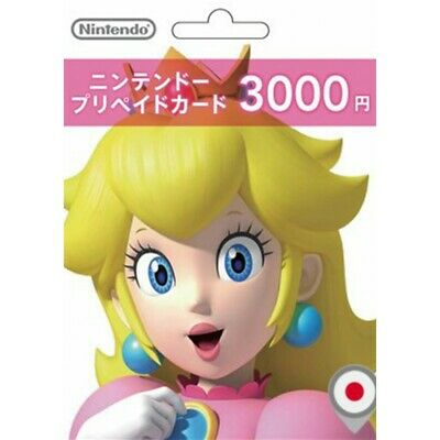 Nintendo JPN eShop 3000 Yen Card Switch 3DS WiiU