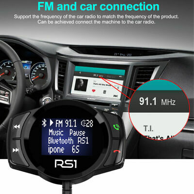 Coche Transmisor FM Bluetooth 4.2 Manos libres Reproductor MP3 Cargador USB HD