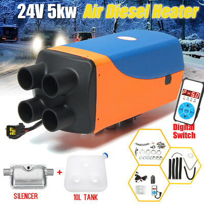5000W 5KW 12V/24V 4 Holes Air Diesel Heater For Cars Trucks Motor Home Boat Bus