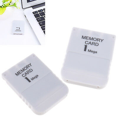 Game Save Memory card for PS1 PS2 Compatible 1MB 15 block Gray 2 pcs