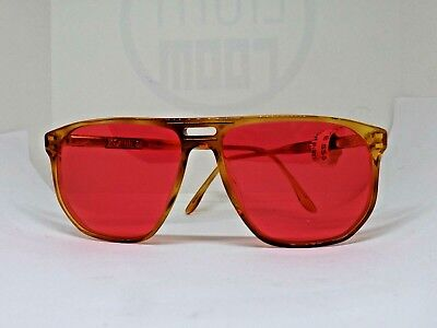 Christopher D Occhiali Da Sole Uomo Vintage 80's Made Italy Brille Sunglasses
