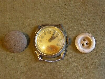 WW II WW2 Original Wristwatches of a German soldier from a bunker in Kurland