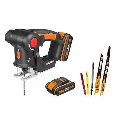 WORX WX550.3 18V (20V MAX) AXIS Multi-Purpose Cordless Saw with 2 Batteries