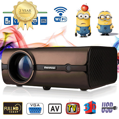 4K WIFI BT 4.0 LED Video Android 6.0 3D Proiettore 8GB 5000LM Full HD 1080P