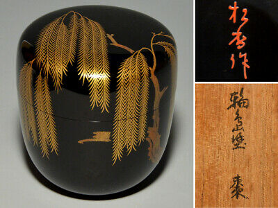 Natsume Wajima Nuri Shokou Work Japanese Lacquerware Tea Utensil Wood Craft