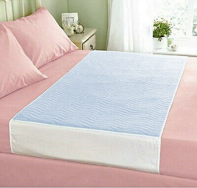 Deluxe Washable Reusable Double Bed Incontinence Pad Protector With Tucks