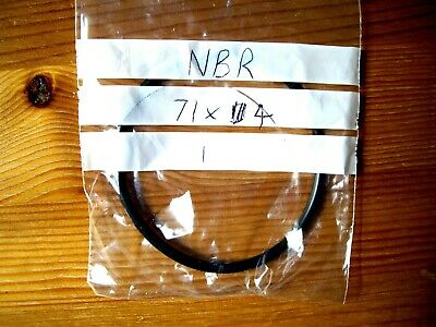 Metric NBR Nitrile Rubber O Ring/Gasket- Size: 71mm ID x 4mm C/S - UK SUPPLIER