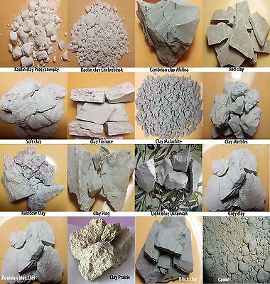 Edible clay,clay for face,clay face masks,medical clay,10 TYPE 400gr,YOUR CHOICE