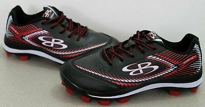 50e9d6905a7 NEW Boombah Women s Frenzy Molded Cleats Black White Red Size 5.5 Softball