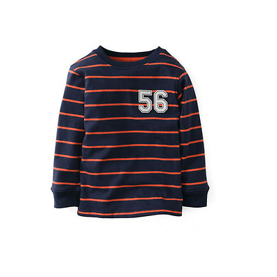 Carter's Baby Boys T- shirt Long Sleeve Striped Navy/Red Size 9 Months
