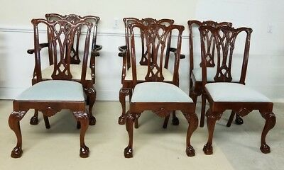 Set Of Six Craftique Chairs Mahogany Ball And Claw