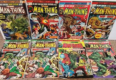 The Man Thing #10 11 14 16 18 19 21 1974 series (LOT OF 8) Marvel Bronze Horror