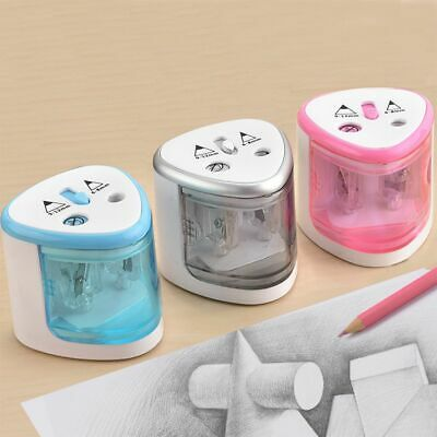 Electronic 9-12mm Battery Pencils Pencil Sharpener Two Holes Student Electric