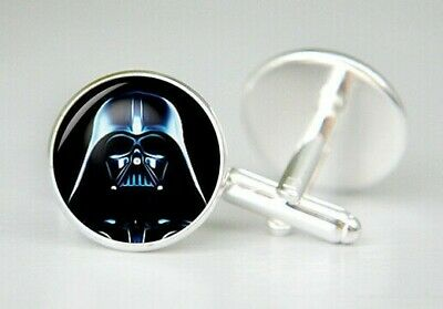 Darth Vader Cuff Links Star Wars Cufflinks Gift for Men Groomsmen Geeky