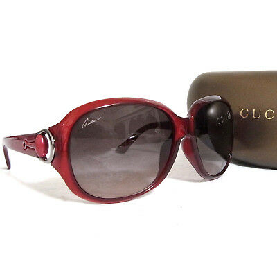 533ff4137ea Auth Gucci Burgundy Sunglasses GG 3621 F S 43HDZ Gradation Lens Italy Good  in