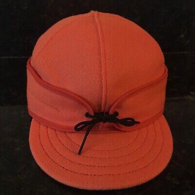 5b041edc8b4fb STORMY KROMER WOOL Hat 7 3 8 Original Men s Cap Blaze Orange Made in ...