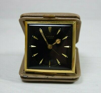 Vintage Collectible KIENZLE 7 RUBIS Made in Germany Traveling Alarm Clock Watch