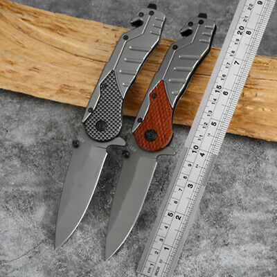 Pocket Tactical Folding Military Hunting Knife Spring Assisted Camping EDC