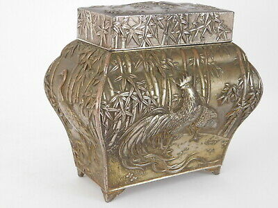Early 20Th Century Silver Plated Tea Caddy ~ Free Uk Postage