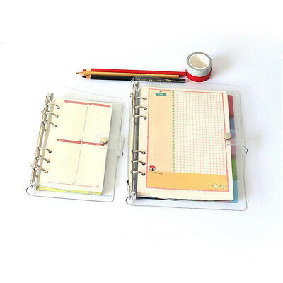 Notebook Cover Leaf Ring Binder Weekly Planner Diary Transparent Latest Useful