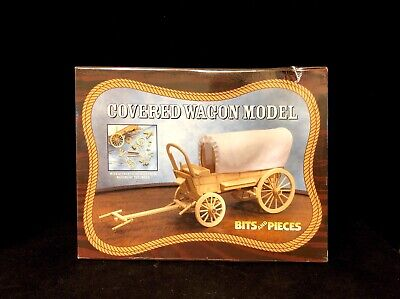 Vintage Wooden Covered Wagon Model By Bits And Pieces NIB