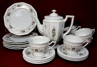 ROSENTHAL china POSIE 20-piece COFFEE or DESSERT SET - Pot Cup Saucer & Plate