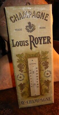 Carton publicitaire thermomètre Champagne Louis Royer AY-CHAMPAGNE