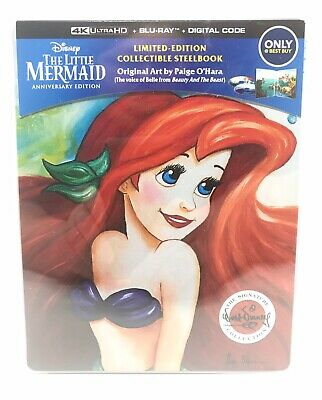 The Little Mermaid Steelbook [4K Ultra | Blu-Ray] w/ Protector OOP (No Digital)