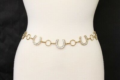 Women's Horseshoe Gold and Silver Chain Belt
