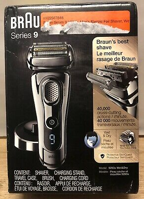 Braun Series 9 9293s Wet Dry Electric Shaver Men Charging Stand with Travel case