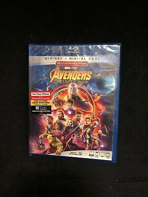 Avengers: Infinity War (Blu-ray + Digital, 2018) No Slipcover