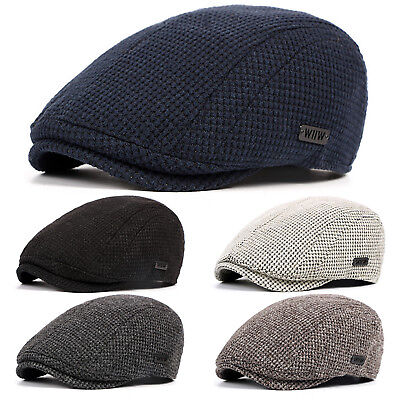 b582a2dd6cd16 Wool Herringbone Newsboy Gatsby Cap Ivy Hat Golf Mens Flat Driver Detective  Boy