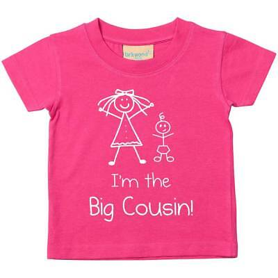 I'm The Big Cousin Pink Tshirt Baby Toddler Kids Available in Sizes 0-6 Months t