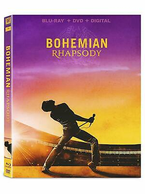 Bohemian Rhapsody  (Blu Ray + DVD + Digital HD) w/ SLIP COVER **FREE SHIPPING**
