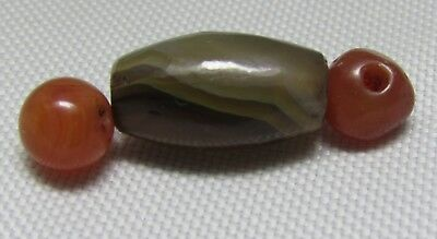 Ancient Agate with Carnelian beads from Peshawar region of Pakistan.