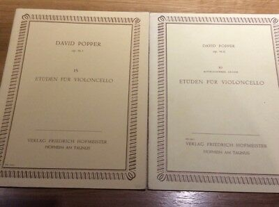 Partitions.  **  Op.76 .i & Ii  ** David Popper ...pour Violoncelle