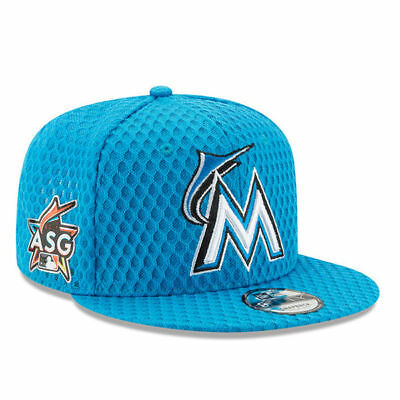 4021d17dd Miami Marlins Home Run Derby 2017 5950 New Era Blue Fitted Cap Hat  Authentic New