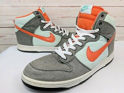 ff7e49e71434 Nike Dunk High Top Dark Army Orange Blaze Mint SB Men s Sz 12 344648-300