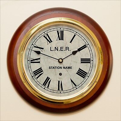 Radio Controlled TRAIN STATION CLOCK. NAME YOUR STATION & RAILWAY COMPANY