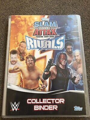 WWF Topps Slam Attax Rivals Collectors Binder Plus Cards