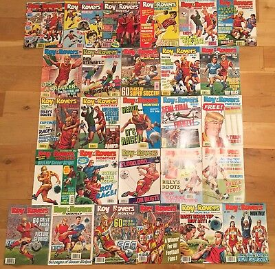 Roy of the Rovers Monthly 27 Issues July 1990 - Sept 1992 incl First New Look Ed