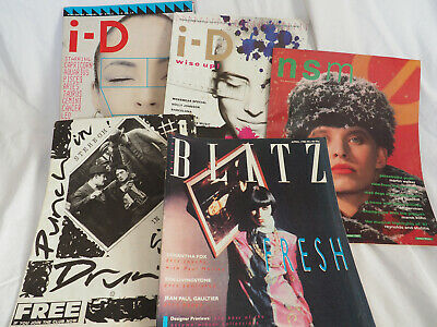 Vintage 80s Magazines Collection x5  i-D, Blatz, nsm
