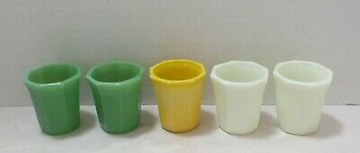 5 Akro Agate Children's Toy Tumblers