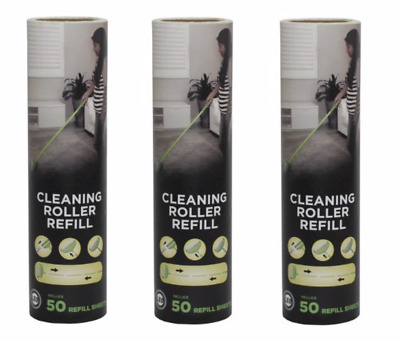 Leo Cleaning Roller Refill 50 Sheets of Sticky Peel Tape for home and pet hair