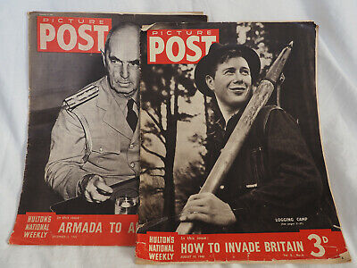 Picture Post WW2 August 10th 1940 and December 5th 1942 Antique Publications