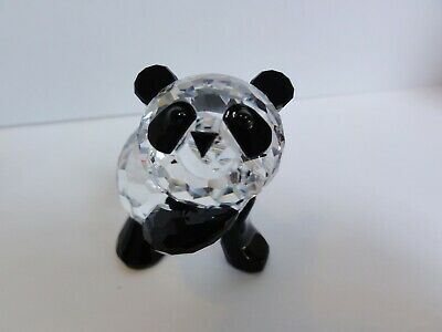 SWAROVSKI Crystal Morther Panda Figurine No Box 7611 NR 000001 See Condition