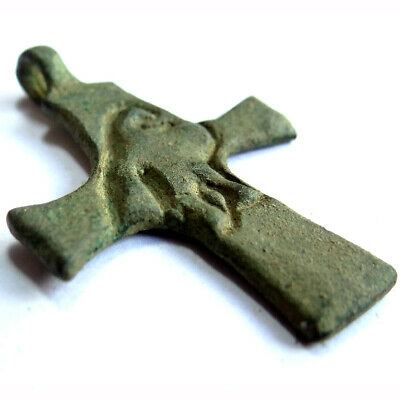 Roman Ancient Artifact Bronze Legionary Cross With Eagle