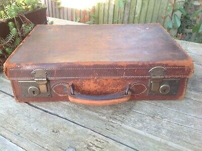 Amazing Antique Suitcase - Briefcase Stunning Vintage French Collectors Item