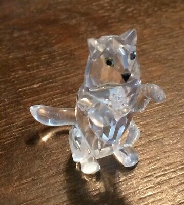 Swarovski Silver Crystal Standing Cat 7634 NR 028 000 MINT in Box, COA