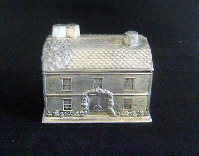 Japanese Silvered Cigarette Box in the shape of a House: Spelter / Antimony